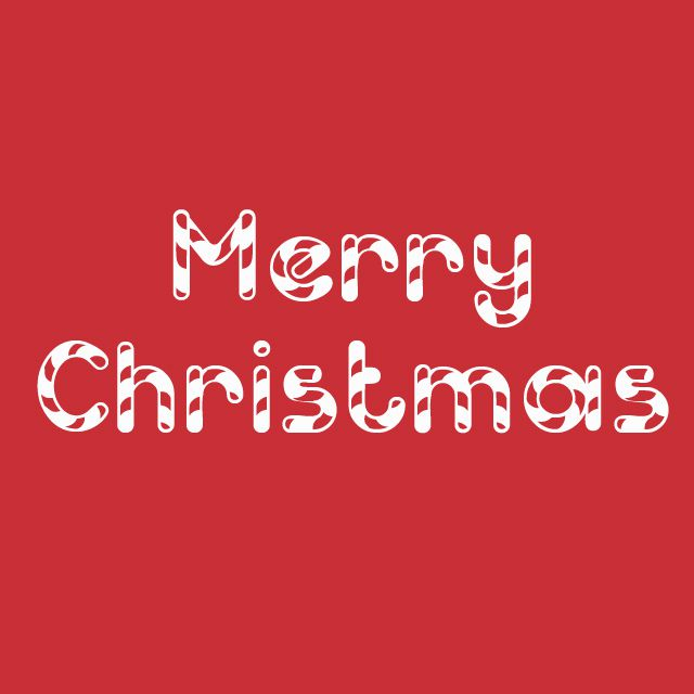 merry christmas in the font candy cane - Christmas Fonts Free