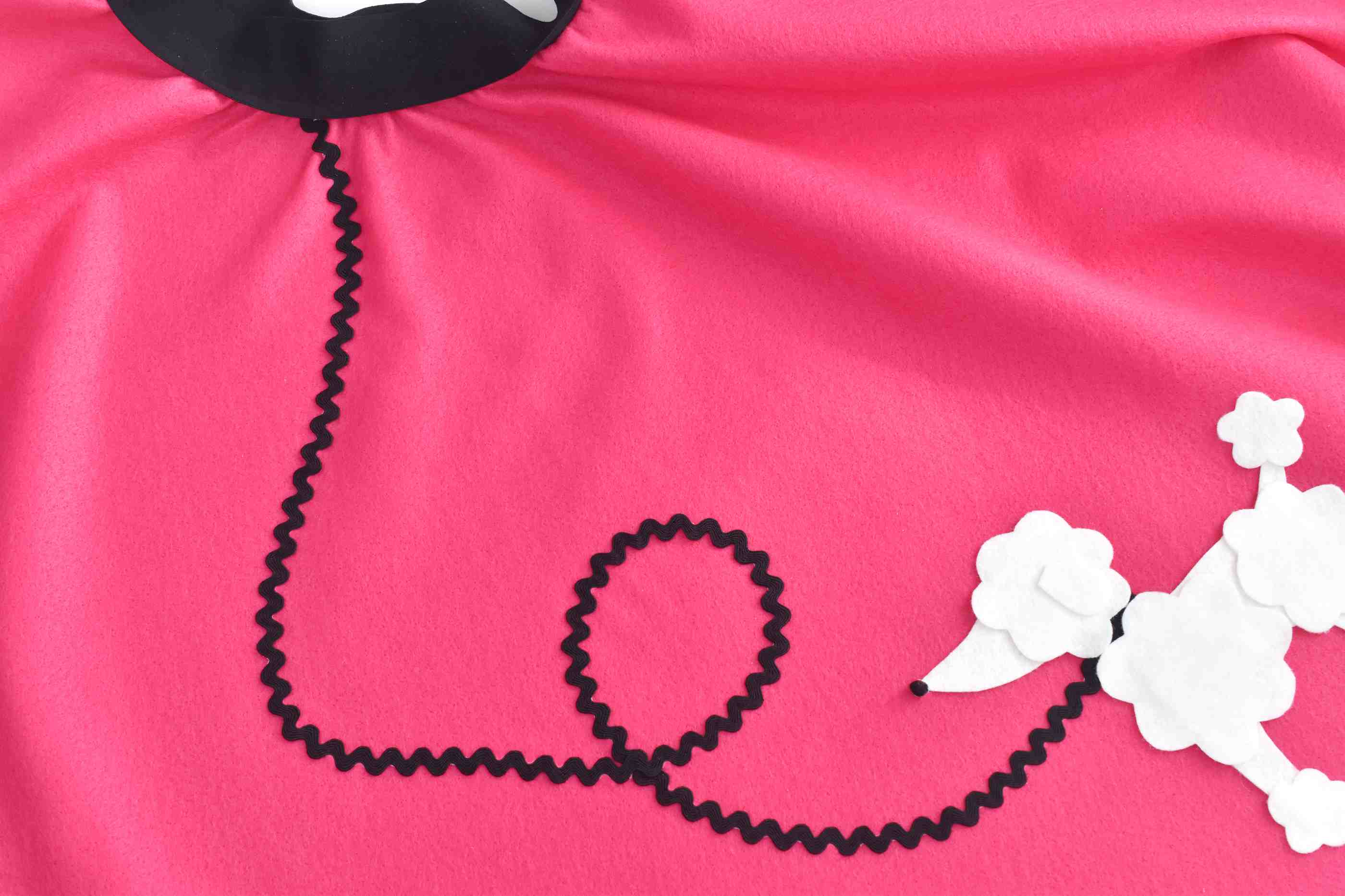 decorations on poodle skirt