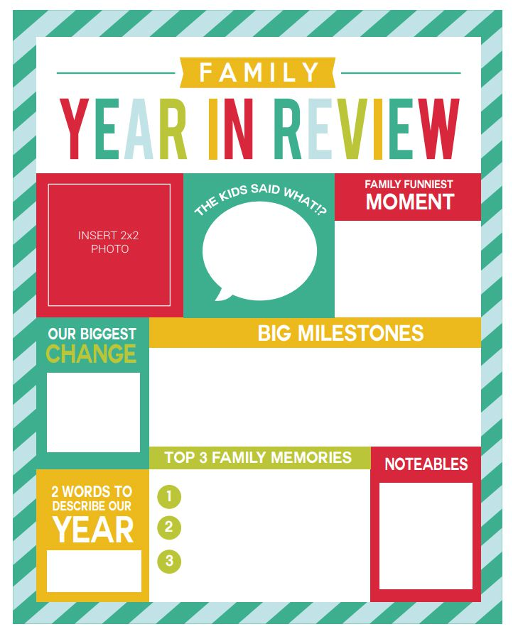 A family year in review newsletter template