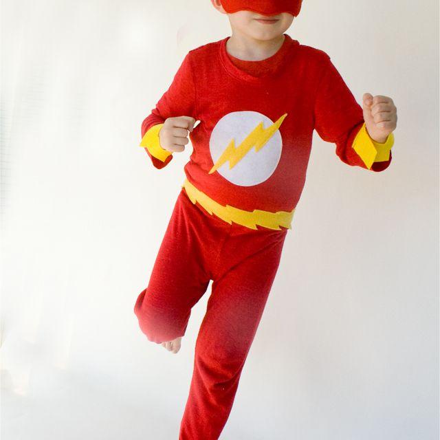 homemade superhero costume flash