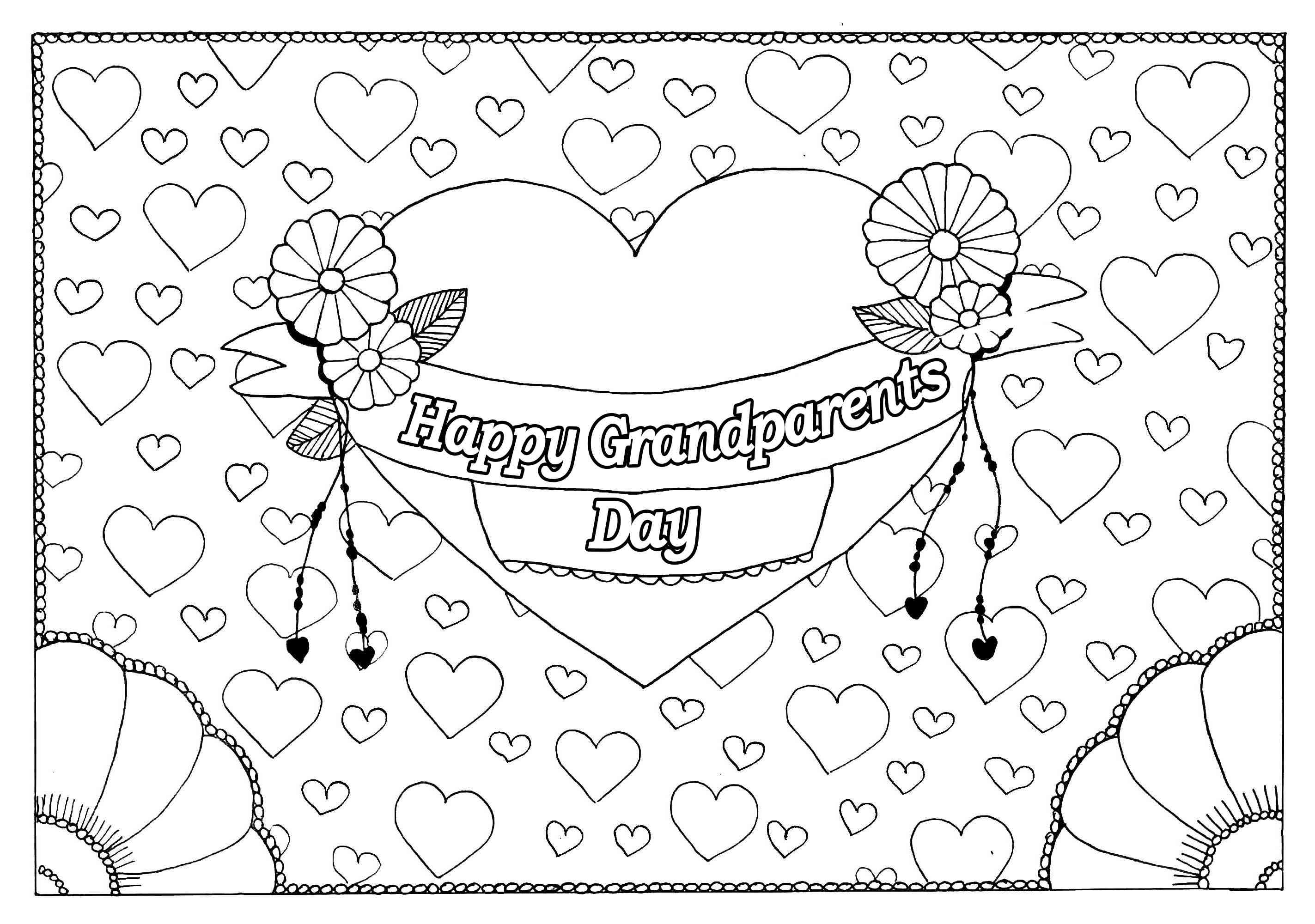 - Free, Printable Grandparents Day Coloring Pages