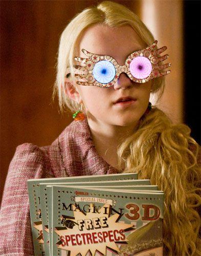 "Luna Lovegood from ""Harry Potter"" wearing spectrespecs"
