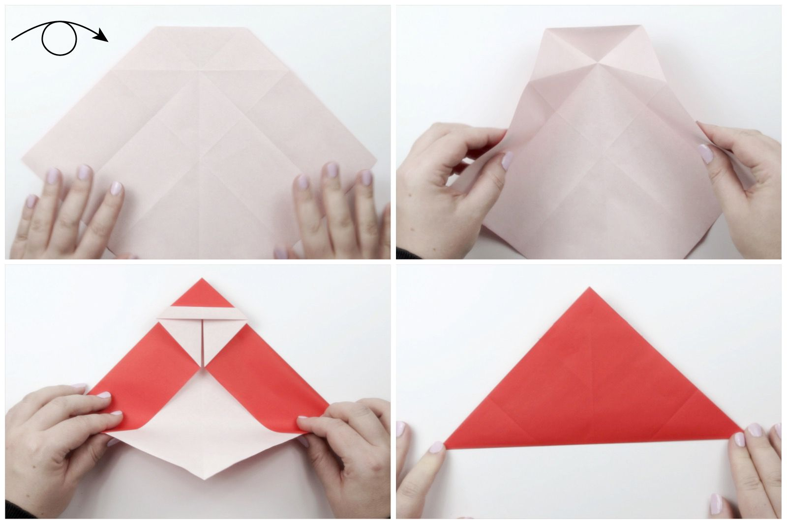 Christmas Origami Santa Claus - How to make an easy origami Santa ... | 1066x1600
