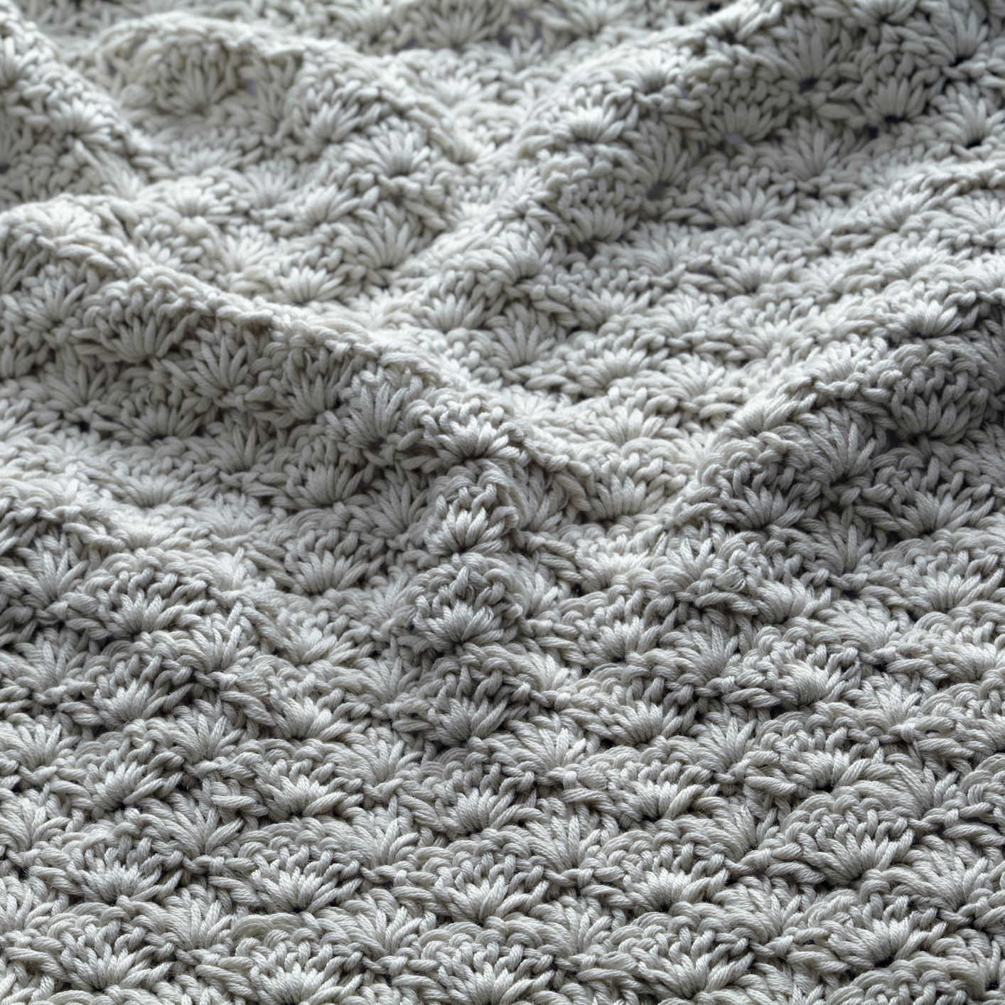 Traditional Shells Afghan crochet PATTERN INSTRUCTIONS