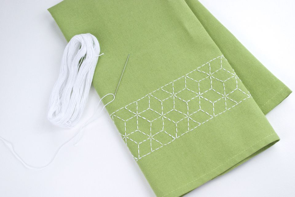 Simple Sashiko Towel