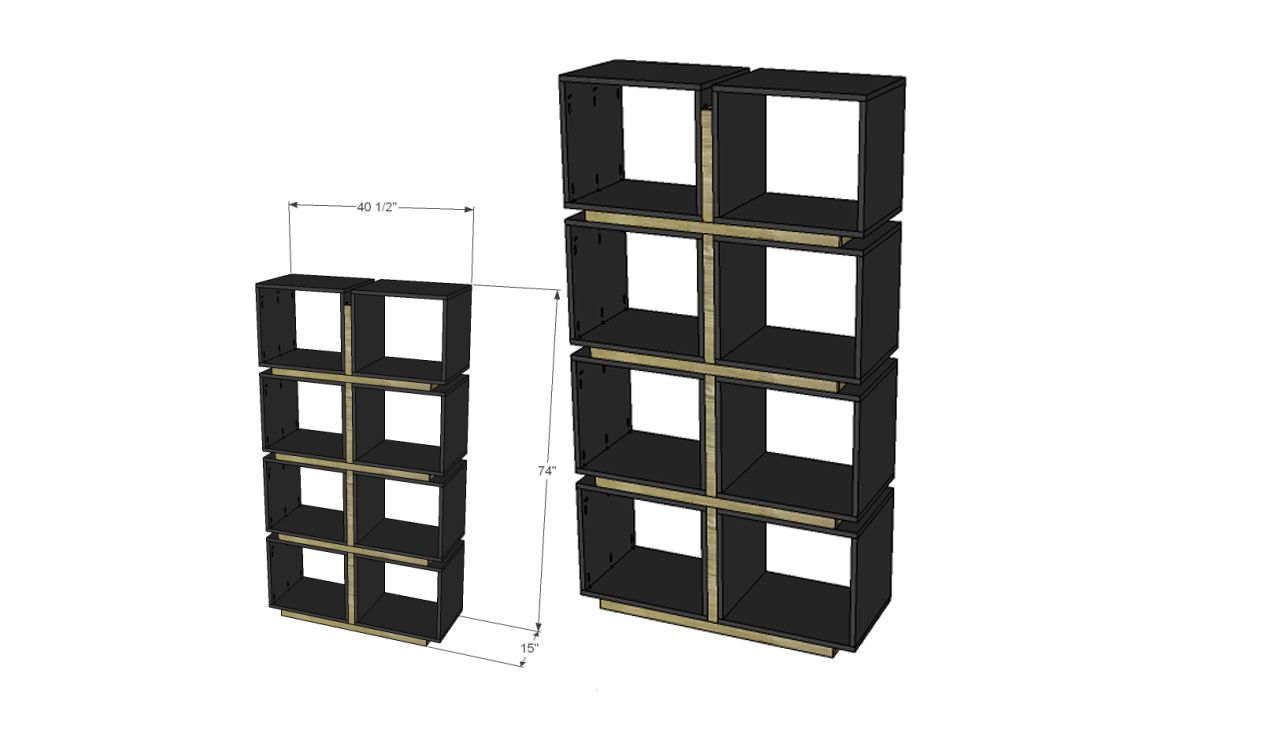 DIY Modern Cube Bookcase