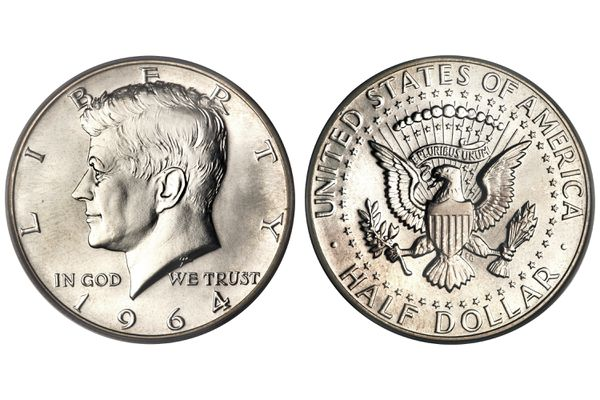 United States half-dollar with Kennedy image
