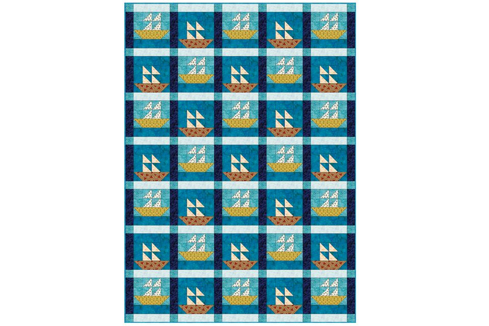 Easy sailboats quilt pattern