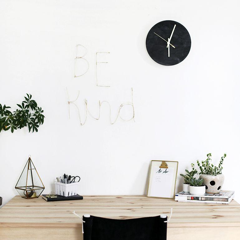 DIY Wire Letter Wall Art