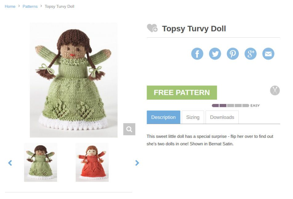 Topsy Turvy Doll Patterns And Kits