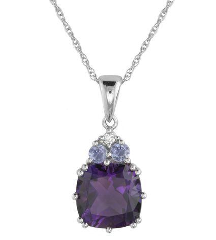 Diamond & Multi Stone Pendant