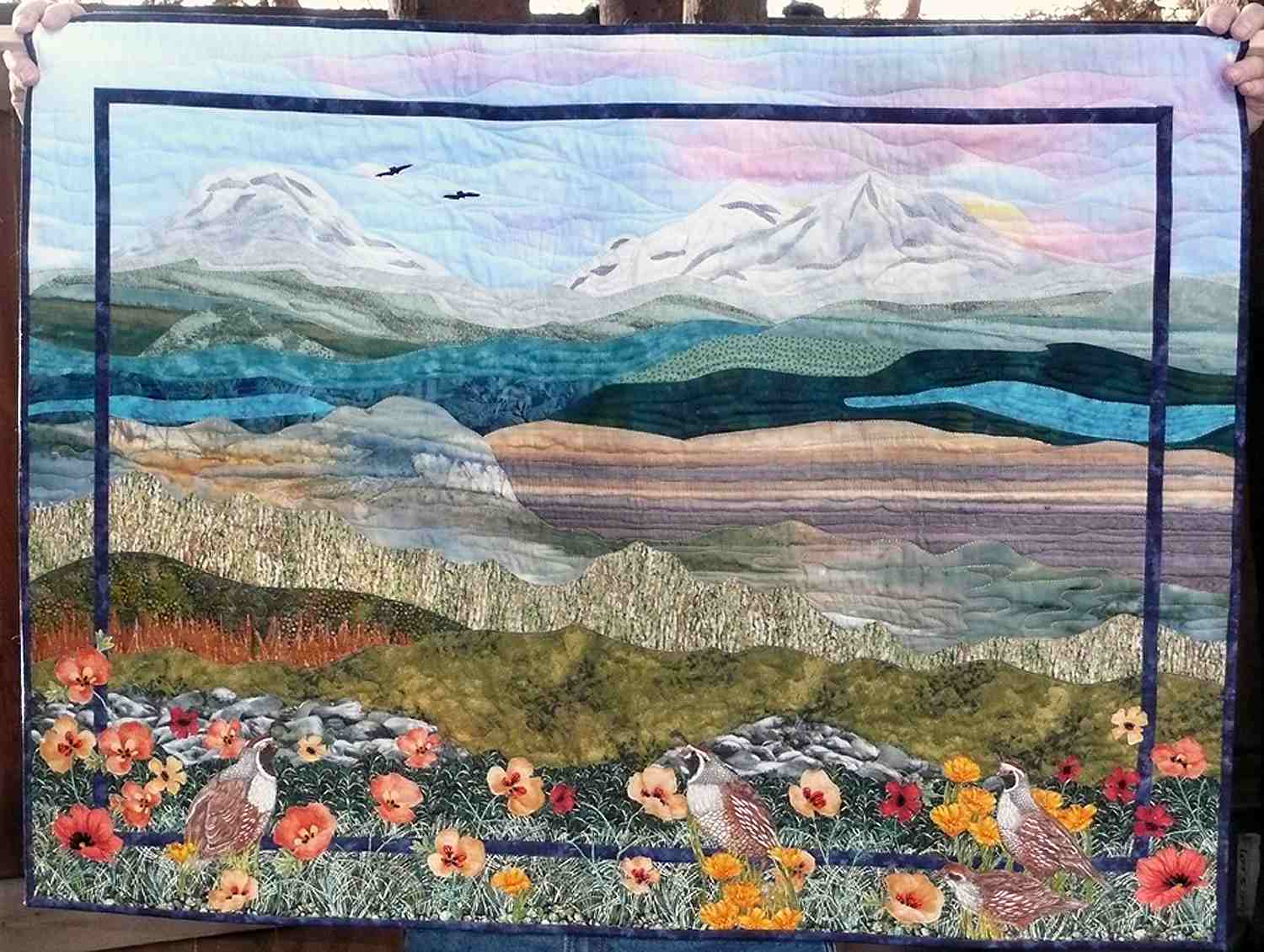 Three Sisters Mountain Quilt