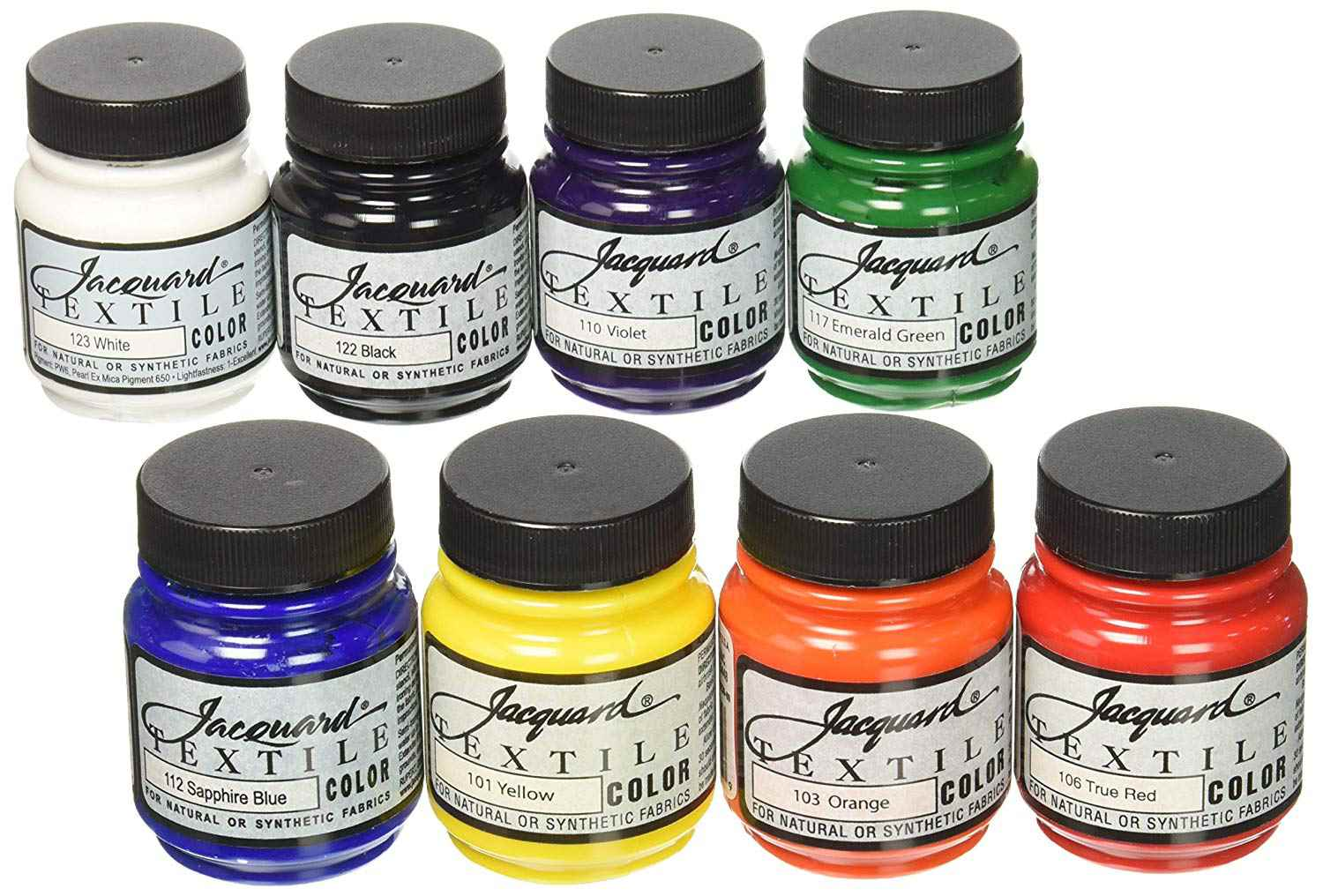 Jacquard Textile Color Fabric Paint, Set of 8
