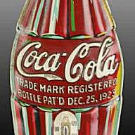 Coke Collectibles Embossed Tin Bottle Thermometer