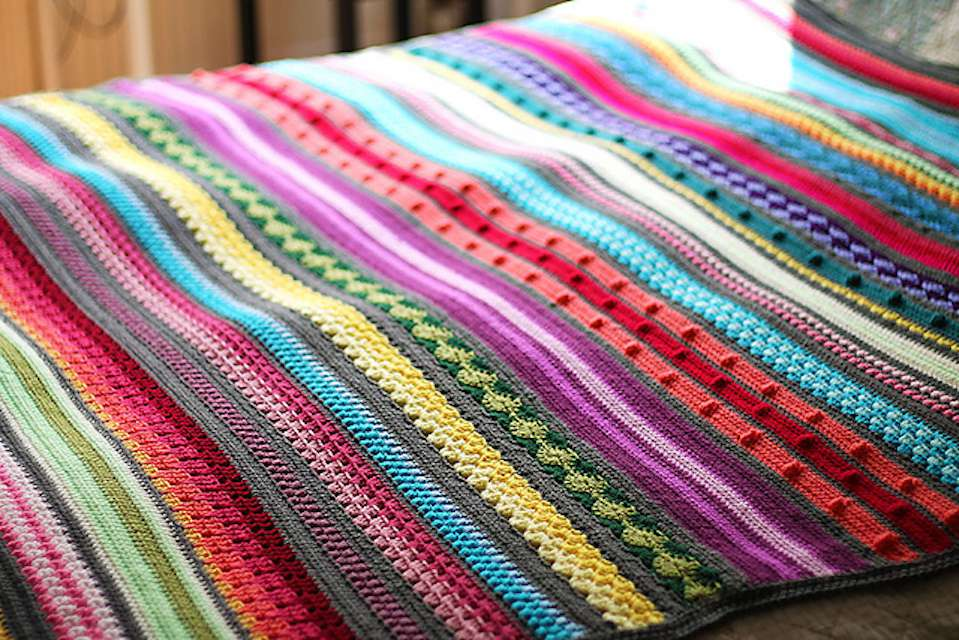 Striped Crochet Blanket Pattern