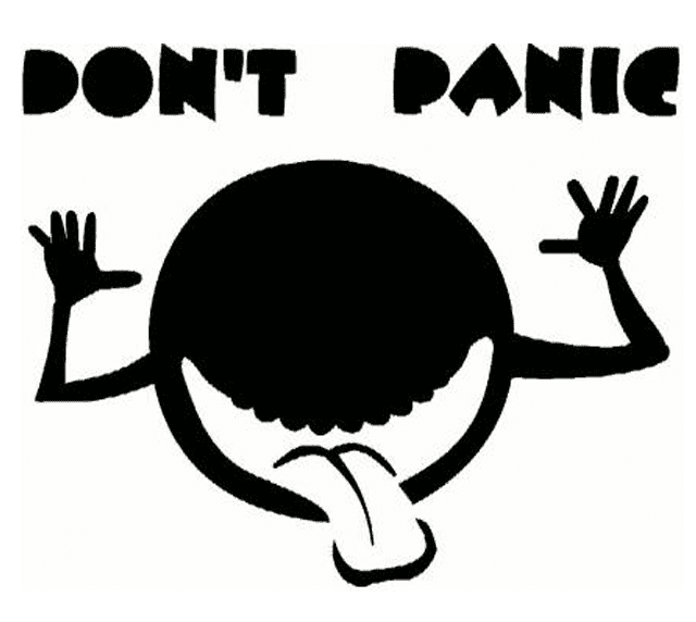Dont Panic Pumpkin Carving Pattern