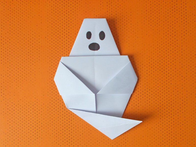An Easy Origami Ghost Craft for Halloween Halloween Origami Diagram on