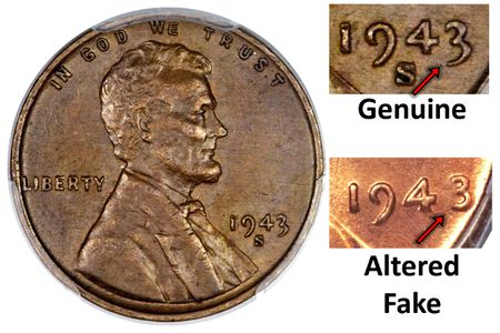 1943 Copper Penny - Spotting a Fake