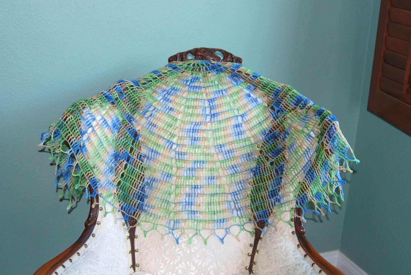 Tunisian Crochet Shawl Free Pattern